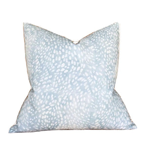 Speckled Pillow Cover in Cloud Blue