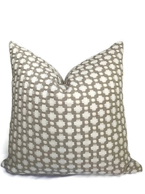 Schumacher Betwixt Pillow Cover in Stone
