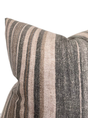 Striped Pillow Cover in Slate