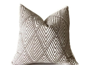 Kravet Tahitian Stitch Pillow Cover in Taupe
