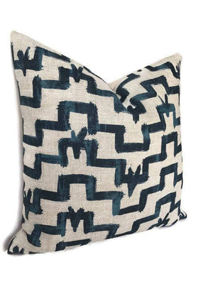 Zak and Fox Tulu Pillow Cover in Indigo