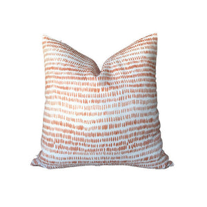 Dashes Pillow Cover in Tangerine