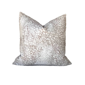 Speckled Pillow Cover in Taupe