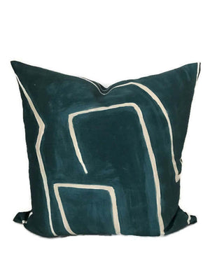 Kelly Wearstler Graffito Pillow Cover in Teal Pearl