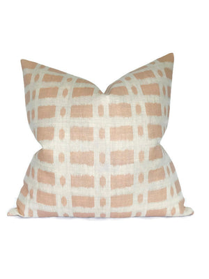 Schumacher Townline Pillow Cover in Pink