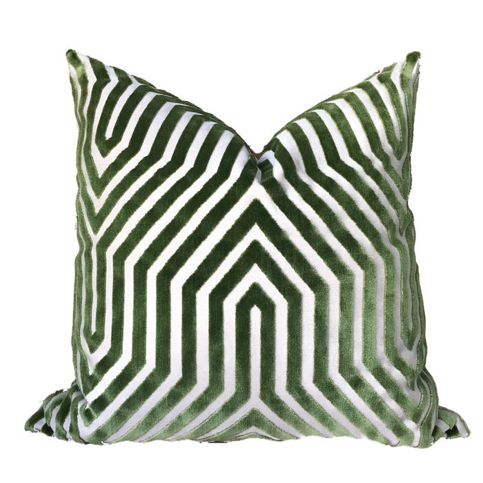 Schumacher Vanderbilt Pillow Cover in Lettuce Green