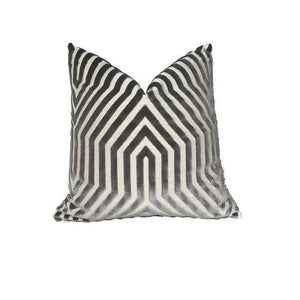 Schumacher Vanderbilt Pillow Cover in Dove Grey