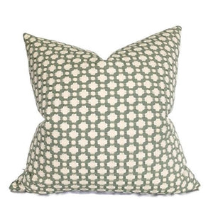 Schumacher Betwixt Pillow Cover in Water