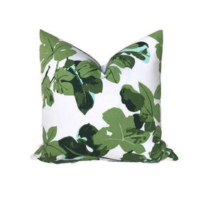 Peter Dunham Fig Leaf Pillow Cover on White