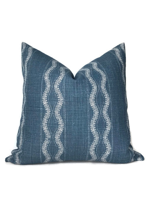 Peter Dunham Zanzibar Pillow Cover in Indigo Blue