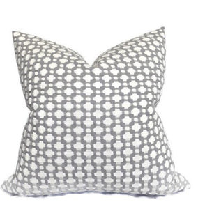 Ready to Ship, 16x16, Schumacher Betwixt Pillow Cover in Zinc