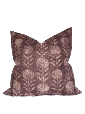 Clay McLaurin Zinnia Pillow Cover in Berry
