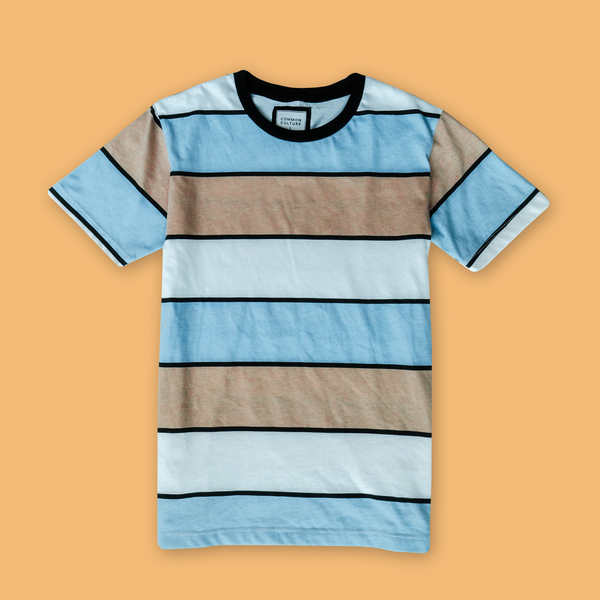 STRIPED T-SHIRT ORNG