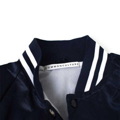 Tears And Lashes Navy Satin Jacket
