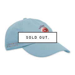 COMMON CULTURE LIGHT BLUE EYEBALL HAT