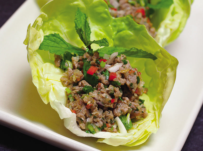 Dr. Perlmutter's Healthy Thai Pork Lettuce Cups