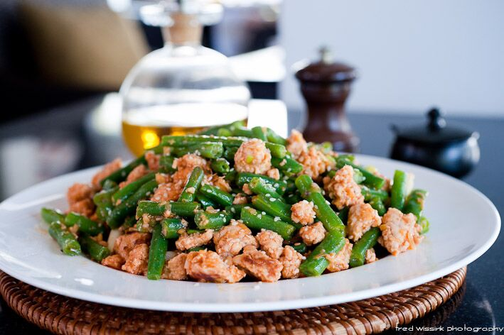 Patricia Wells' Pork with Green Beans, Ginger, and Fresh Coriander
