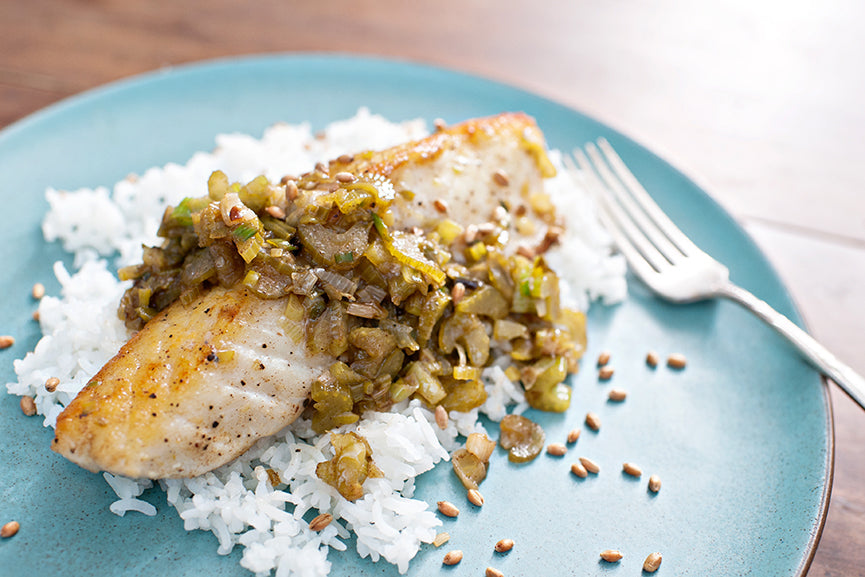 Andrew Zimmern's Halibut with Brown Butter and Fish Sauce