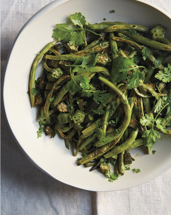 Chris Shepherd's Roasted Green Beans and Okra with Caramelized Fish Sauce Recipe