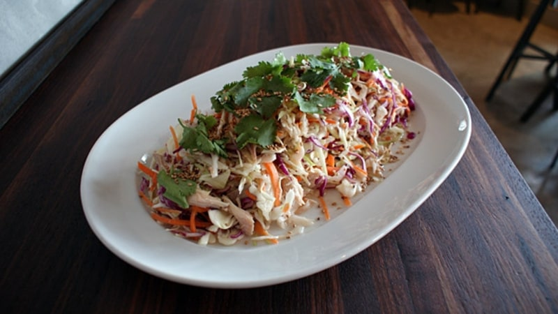 Chris Shepherd's Pulled Chicken, Cabbage, Carrot, Nuoc Mam