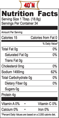 Image result for red boat fish sauce nutrition label
