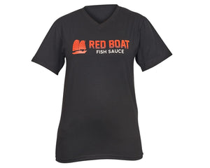 Red Boat T-Shirt Black V-Neck