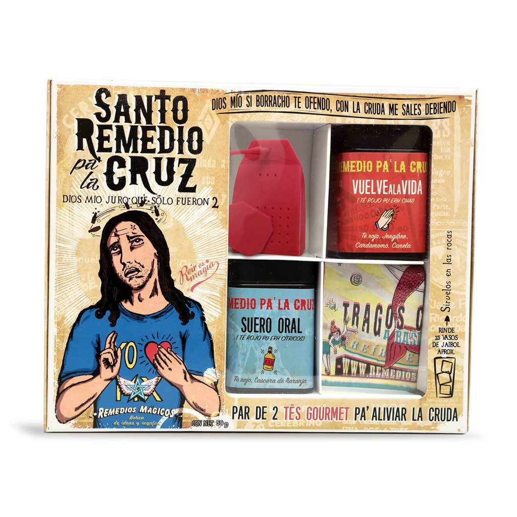 "KIT DE TÉS ""SANTO REMEDIO PA' LA CRUZ"""