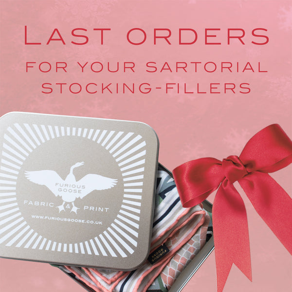 Gift posting and last order information for the holidays