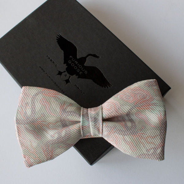 Pink Bow Tie, Pale Pink, Wedding Tie, Dragons, Chinoiserie