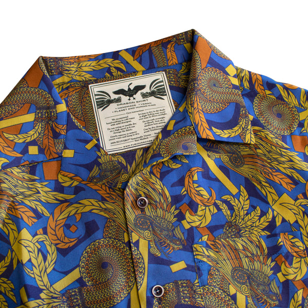 Bold Hawaiian Shirt, Dragon Shirt, Quetzalcoatl, Casual Shirts, Vegan Fashion, Made in UK