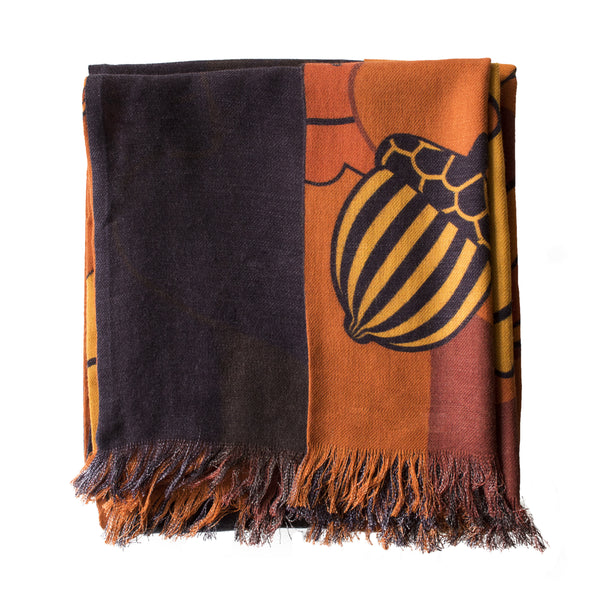 Luxury winter wear, winter fashion, better than cashmere, silk wool blend, printed scarf, unisex scarves