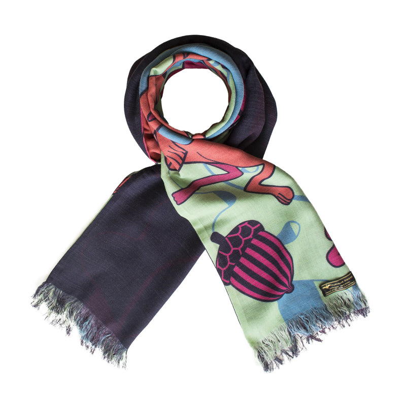 Luxury winter scarf, Wool Scarves, Silk scarves, Long scarf, Cashmere, Silk-Wool Blend,