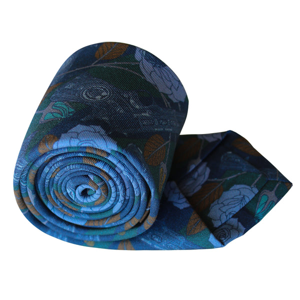 Designer Silk Tie, Navy, Gold, Racing Green Colour Luxury Mens Ties, UK, Sinatra's Pistol, Houston, Guns and Roses, 100% Silk Accessories