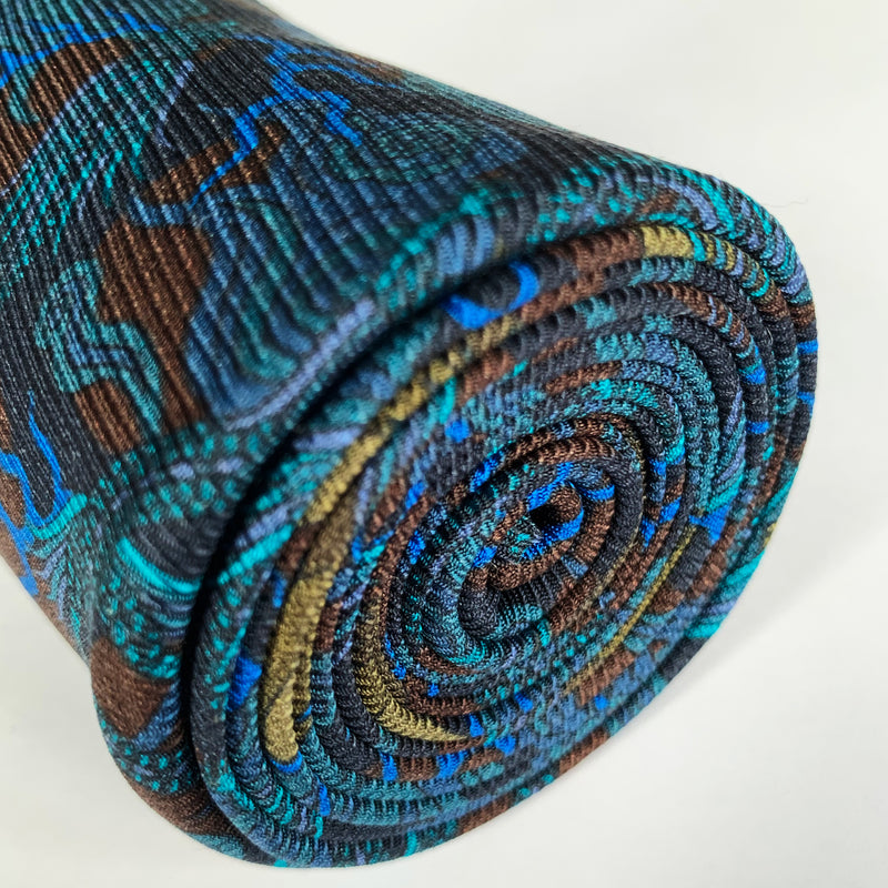 Luxury Silk Tie, Mens Accessories, Petrol Blue Tie, Black Tie, Neckties, Bold Accessories, Made in England, London, Paris, New York