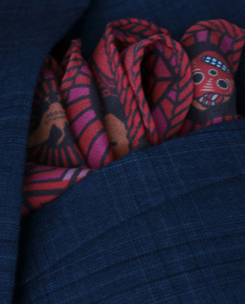 Day of the Dead Pocket Square, Pocket Squares UK, London, Brighton, Silk Scarves