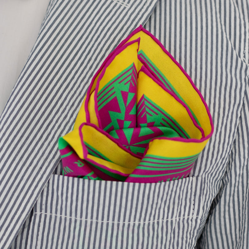 Luxury Pocket Square, Bold Accessories, Oscar Wilde, Silk Squares, UK London