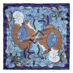 Fox inspired Pocket Square, Pocket Squares UK, Pochette, Handkerchief, Silk Square, Luxury Gift, Made in UK