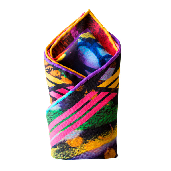 Melbourne Street Art inspired Pocket Square, Graffiti Pocket Squares UK, Pochette, Graffiti Handkerchief, Silk Square, Luxury Gift, Made in England