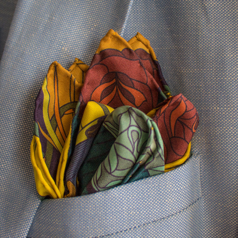 Guns and Roses, Antique Rifle, Designer Pocket Square, Guns Floral Print, Pochette, Luxury Handkerchief, Silk Square, Luxury Gift, Made in England