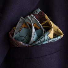 Gold pocket square, luxury pocket squares, silk handkerchief, made in england, british pocket square, guns and roses, colt 9mm, billionaire's lifestyle