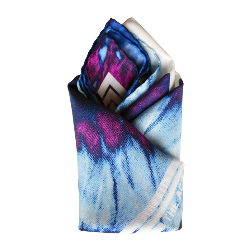 Tie Dye Pocket Square, Silk Scarf, Luxury Pocket Squares, UK, London,