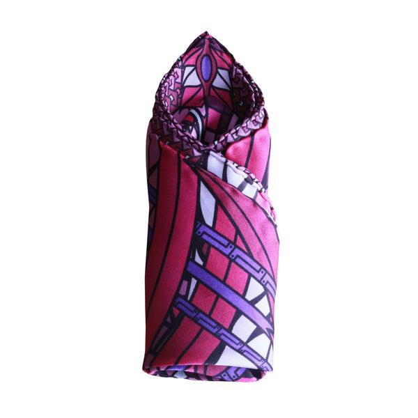 Dragon pocket square, bright and bold colours, 100% silk, modern fashion trends