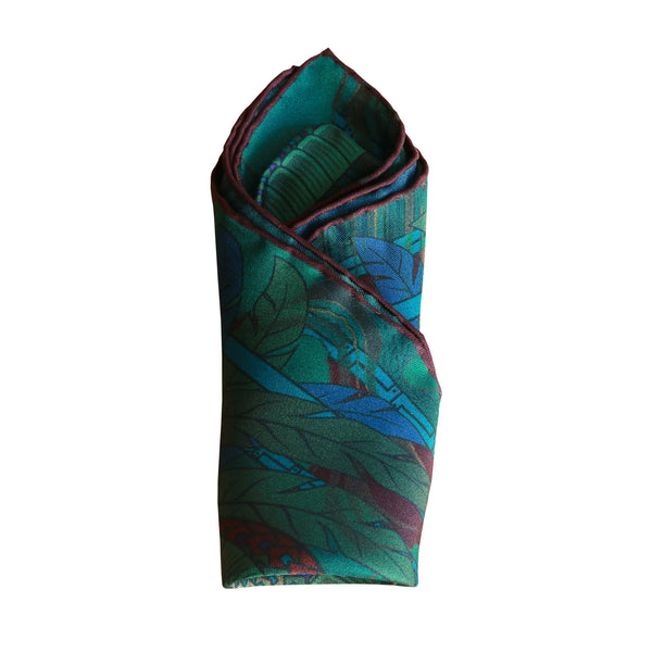 Pocket square, 100% silk, unisex wear, sustainable modern fashion