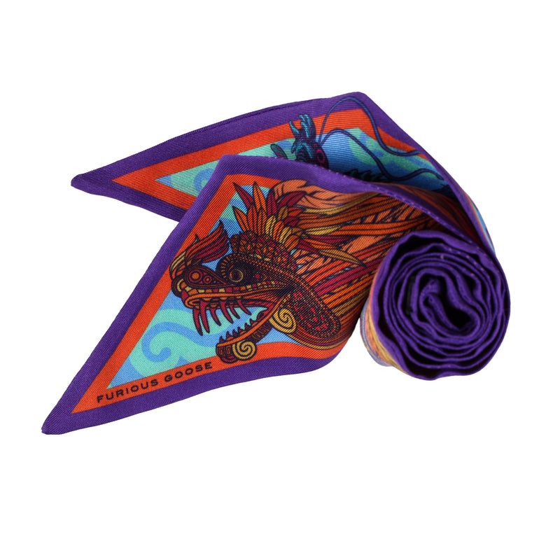 Pussybow, Dragon Scarf, Silk Scarf, Luxury Accessory UK