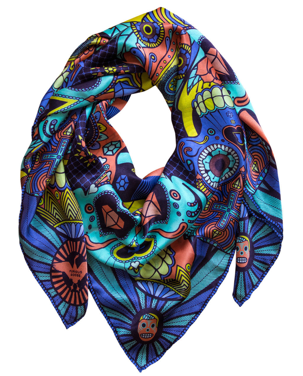 Luxury Silk Scarf, Silk Scarves UK, Satin Foulard, Brighton, London, Mayfair, Gift Ideas for her for him
