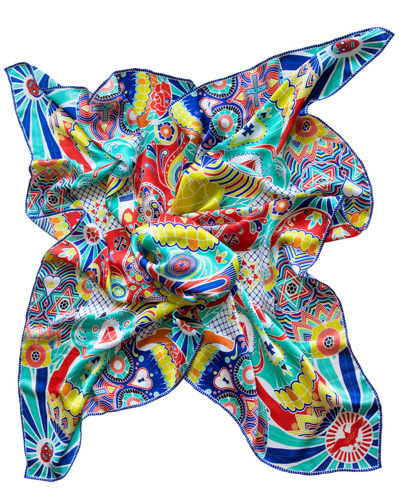Silk Scarf, Silk Scarves UK, Designer Scarves, London, England, Brighton, Luxury Gift Ideas