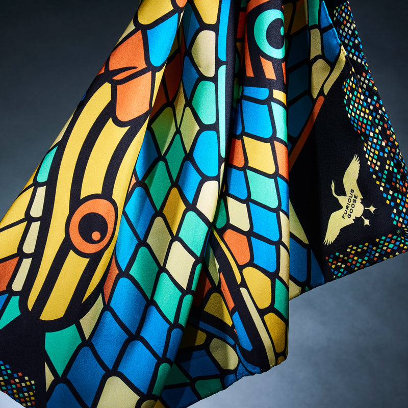 Maximalist Silk Scarf, Foulard, Silk Scarves London, Silk Square, Luxury Gift, Made in England