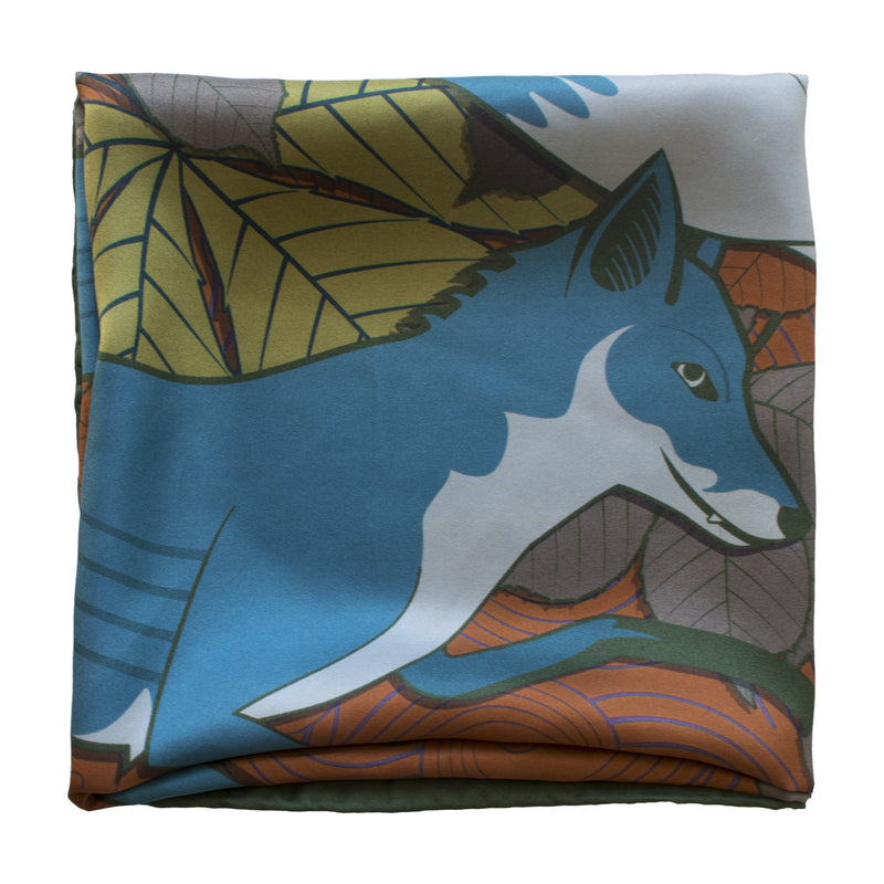 Foxes, Day – Luxury Scarves Brighton, Silk Scarf, Foulard, Made in UK, Designer Scarves, Gifts for her, Wedding