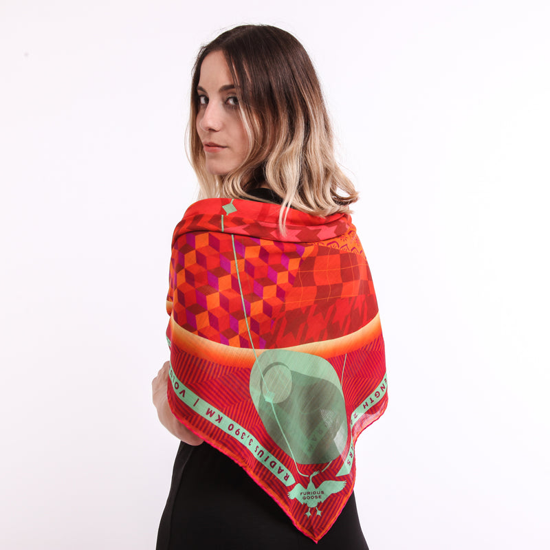 Luxury Merino Wool Scarf UK, Mars, Planet Mars, Gift Ideas Aries, Luxury Gift UK, London, Miami, Science Gifts