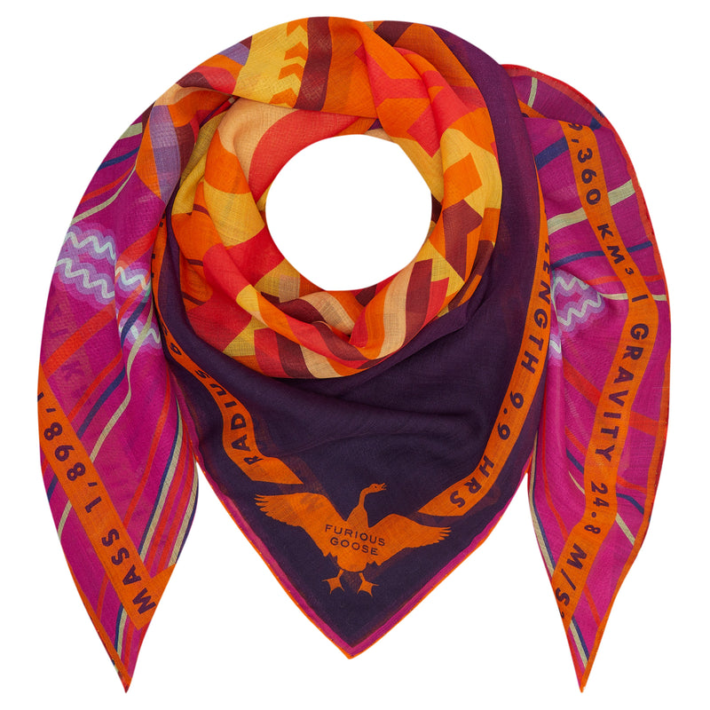 Luxury Merino Wool Scarf UK, Jove, Planet Jupiter, Gift Ideas Sagittarius, Luxury Gift UK, London, Paris, Science Gifts